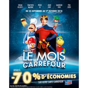 Catalogue Carrefour du 25 septembre au 1er octobre 2018 (Le Mois Carrefour 2018 Chapitre 1)