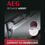 Offre d'Essai AEG : Lave-Vaisselle Satisfait ou 100% Remboursé - anti-crise.fr