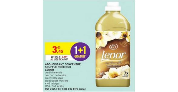 Bon Plan Adoucissant Lenor chez Intermarché - anti-crise.fr