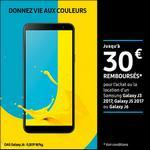 Offre de Remboursement Samsung : Jusqu'à 30€ Remboursés sur Galaxy J3 ou J5 2017 ou Galaxy J6 - anti-crise.fr