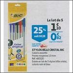 Bon Plan Stylos Bille Cristal Bic chez Auchan (05/09 - 11/09) - anti-crise.fr