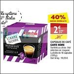 Bon Plan Capsules de Café Carte Noire Compatibles Dolce Gusto chez Atac (19/09 - 24/09) - anti-crise.fr