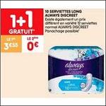 Bon Plan Serviettes Always Discreet chez Leader Price (02/10 - 14/10) - anti-crise.fr