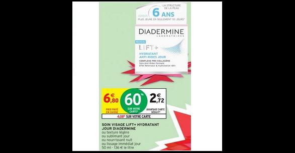 Bon Plan Crème Lift+ de Diadermine chez Intermarché (25/09 - 30/09) -anti-crise.fr