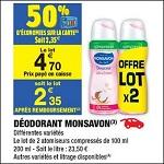 Bon Plan Déodorant Monsavon chez Carrefour Market (25/09 - 30/09) - anti-crise.Fr