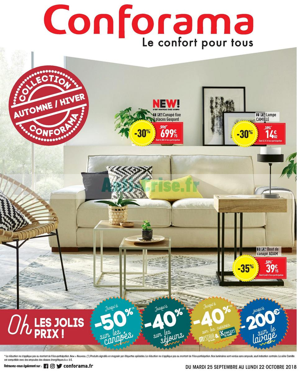 Catalogue Conforama du 25 septembre au 22 octobre 2018