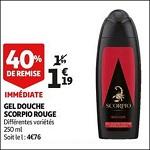Bon Plan Gel Douche Scorpio chez Auchan (12/09 - 18/09) - nati-crise.fr