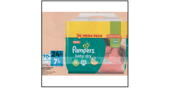 Bon plan couches pampers baby dry chez auchan supermarch 31 10 06 11 catalogues promos - Promo couche pampers auchan ...