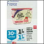 Bon Plan Yaourts Light & Free de Danone chez Auchan Supermarché (10/10 - 16/10) - anti-crise.Fr