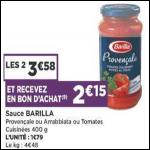 Bon Plan Sauce Barilla chez Casino (16/10 - 28/10) - anti-crise.fr