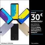Offre de Remboursement Samsung : Jusqu'à 30€ Remboursés sur Galaxy J3 2017 ou Galaxy J5 2017, Galaxy J6 ou Galaxy J6+ - anti-crise.fr