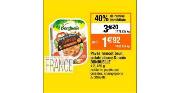 Bon Plan Pavé VeggissiMmm! Bonduelle chez Cora - anti-crise.fr