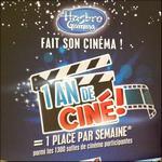 Bon Plan Hasbro : 1 An de Cinéma Offert