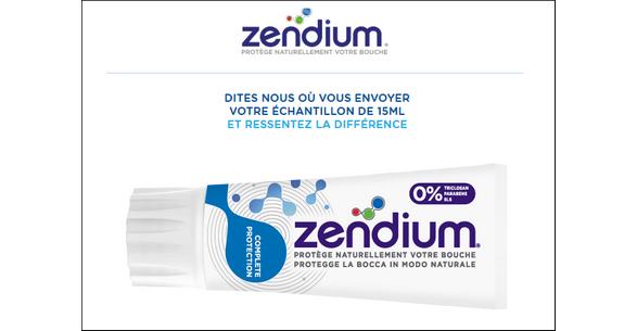 Echantillon Gratuit Zendium : Dentifrice 15 ml - anti-crise.fr
