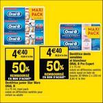 Bon Plan Dentifrice Oral-B chez Cora - anti-crise.fr