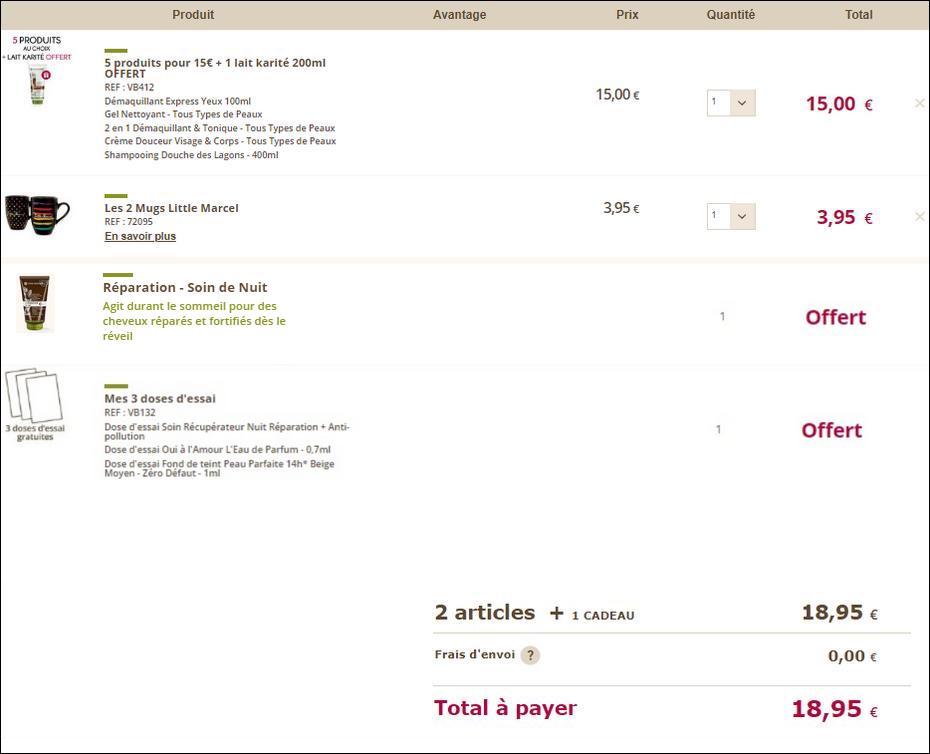 Bon plan yves rocher 5 produits 2 mugs little marcel - Echantillons gratuits a recevoir sans frais de port ...