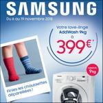 Offre de Remboursement Samsung : Jusqu'à 80€ sur Lave-linge AddWash 9kg - anti-crise.fr