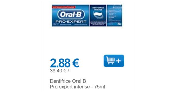 Bon Plan Dentifrice Oral-B Partout - anti-crise.fr