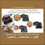 Bon Plan De'Longhi : 1 Jeu de Plaques à Gaufres, à Sandwichs ou à Grill Offert - anti-crise.fr