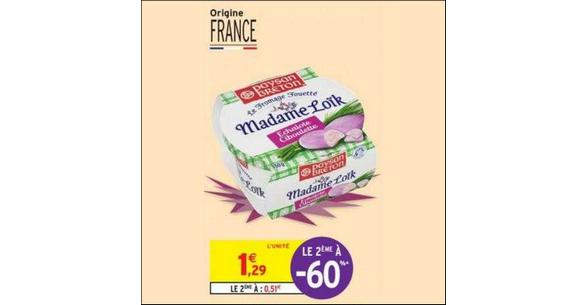 Bon Plan Fromage Fouetté Mm Loïk Paysan Breton chez Intermarché - anti-crise.fr