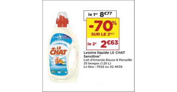 Bon Plan Lessive Liquide Le Chat Sensitive chez Casino - anti-crise.fr