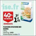 Bon Plan Céréales Bio Bjorg chez Auchan (17/10 - 23/10) - anti-crise.fr