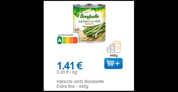 Bon Plan Conserve de Haricots Verts Bonduelle Partout - anti-crise.Fr
