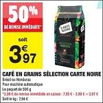 Bon Plan Café en Grains Honduras Carte Noire chez Carrefour Market (16/10 - 28/10) - anti-crise.fr
