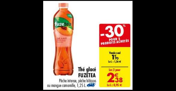Bon Plan Boisson Fuze Tea chez Carrefour (23/10 - 29/10) - anti-crise.fr