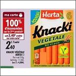 Bon Plan Knacki Végétales Herta chez Franprix (17/10 - 28/10) - anti-crise.fr