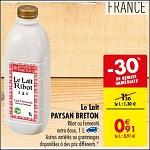 Bon Plan Lait Ribot Paysan Breton chez Carrefour (23/10 - 29/10) - anti-crise.fr