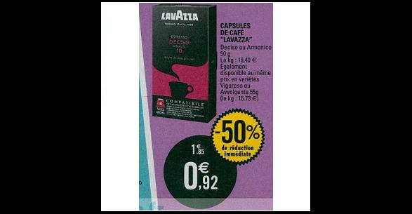 Bon Plan Capsules de Café Espresso Lavazza Compatibles Nespresso chez Leclerc (16/10 - 20/10) - anti-crise.fr