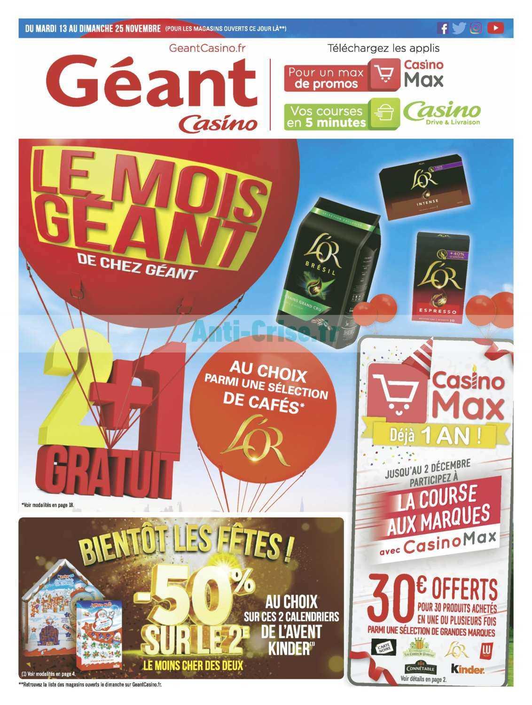 Catalogue Géant Casino du 13 au 25 novembre 2018