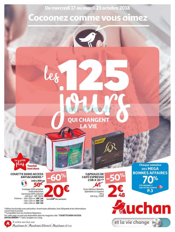 Catalogue Auchan du 17 au 23 octobre 2018 (125 Jours 3)