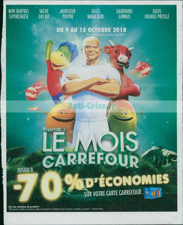 Catalogue Carrefour du 09 au 15 octobre 2018 (Le Mois 3)