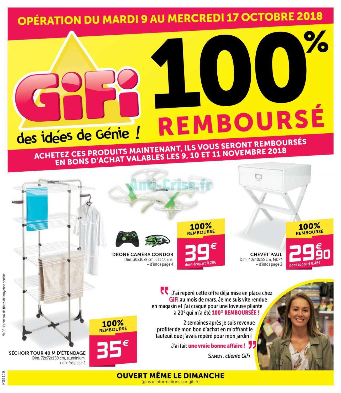 catalogue gifi du 09 au 17 octobre 2018 100 rembours catalogues promos bons plans. Black Bedroom Furniture Sets. Home Design Ideas