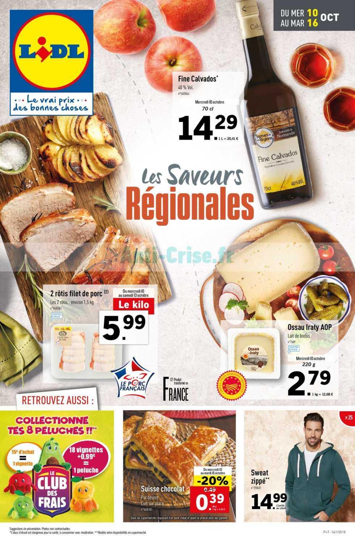 Catalogue Lidl du 10 au 16 octobre 2018