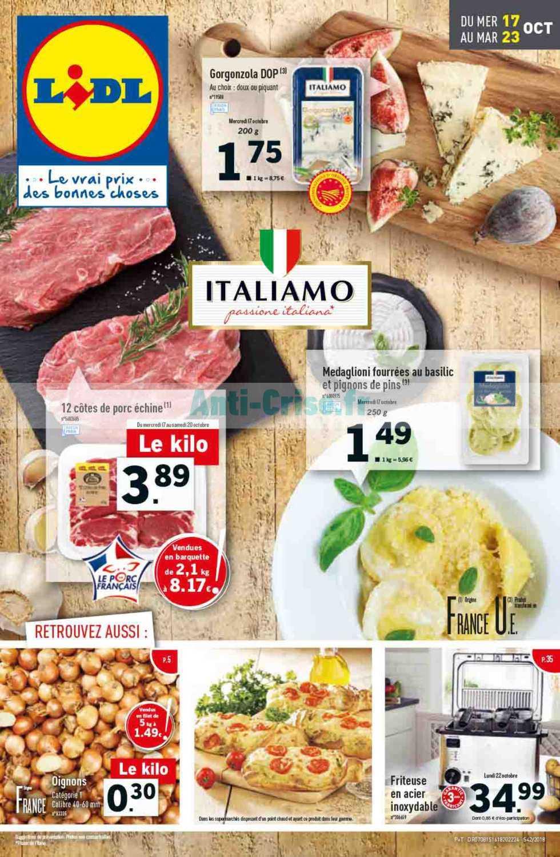 Catalogue Lidl du 17 au 23 octobre 2018 (Italie)