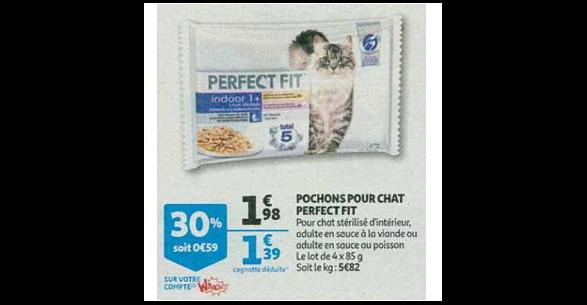 Bon Plan Sachets Fraicheur pour Chat Perfect Fit chez Auchan (10/10 - 16/10) - anti-crise.fr