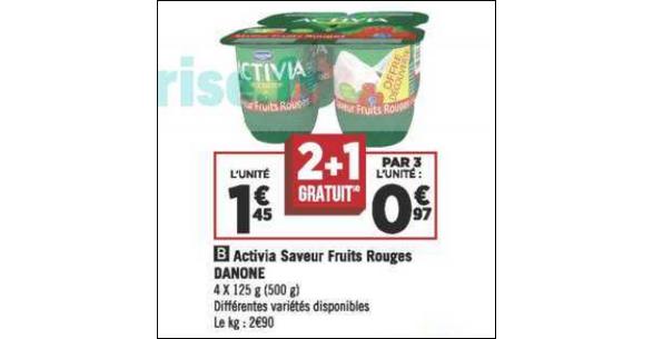 Bon Plan Yaourts Activia de Danone chez Géant Casino - anti-crise.fr