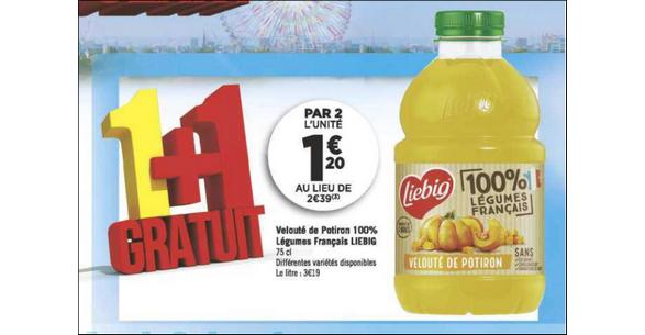 Bon Plan Soupe 100% Légumes Français Liebig chez Géant Casino - anti-crise.fr