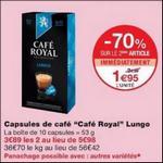 Bon Plan Capsules Café Royal Compatibles Nespresso chez Monoprix - anti-crise.fr