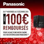 Offre de Remboursement Panasonic : Jusqu'à 100€ Remboursés sur Micro Chaîne ou Système Audio - anti-crise.fr