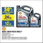 Bon Plan Bidon 5L Shell Helix Ultra 5W40 chez Carrefour Market - anti-crise.fr