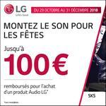 Offre de Remboursement LG : Jusqu'à 100€ Remboursés sur un Produit Audio - anti-crise.fr