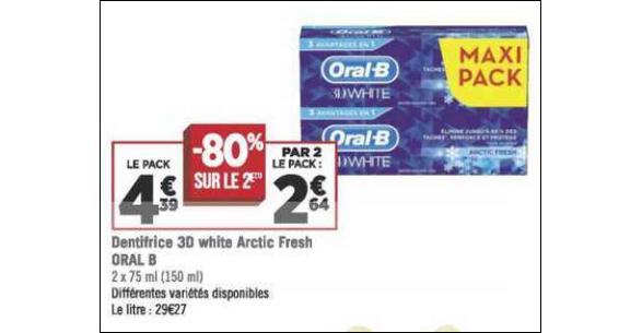 Bon Plan Dentifrice Oral-B chez Géant Casino - anti-crise.fr
