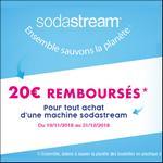 Offre de Remboursement Sodastream : 20€ Remboursés sur une Machine - anti-crise.fr