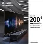 Offre de Remboursement Samsung : Jusqu'à 200€ Remboursés sur Barres de Son - anti-crise.fr