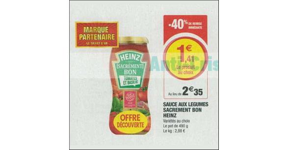 Bon Plan Sauce Heinz Sacrément Bon chez Magasins U - anti-crise.fr