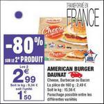 Bon Plan American Burger Daunat chez Carrefour Market - anti-crise.fr